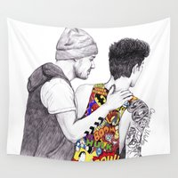 coconutwishes Wall Tapestries featuring Ziam Love by Coconut Wishes