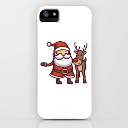 Jolly Santa iPhone Case