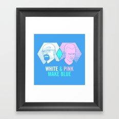 WHITE & PINK MAKE BLUE Framed Art Print
