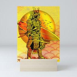 Ronin Surfer, Brave Surfing Mini Art Print