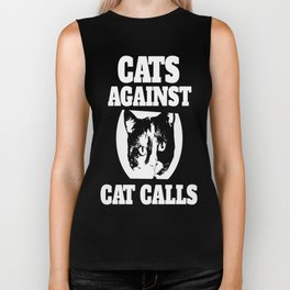 Cats against catcalls Biker Tank