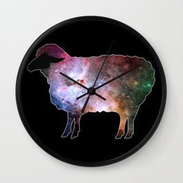 Psychedelic Sheep of the Family (3) Wall Clock