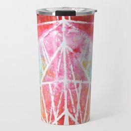 Cat - Colorful Geometric Travel Mug