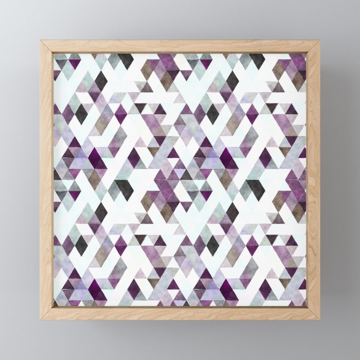 TRIANGLES Framed Mini Art Print