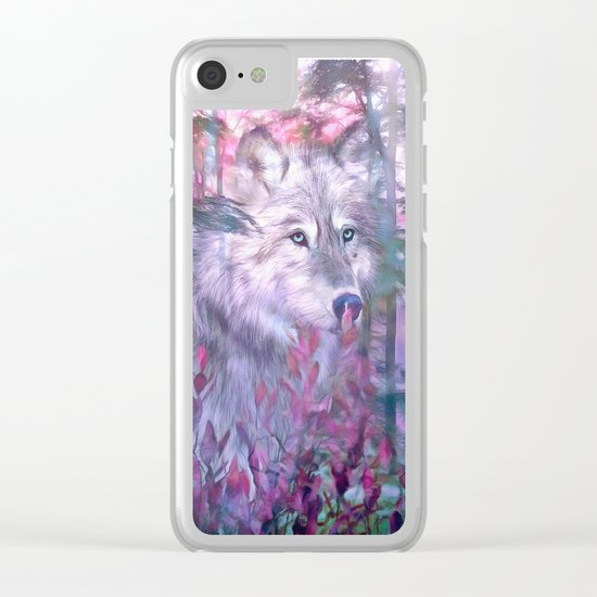 Forest Ghost Clear iPhone Case