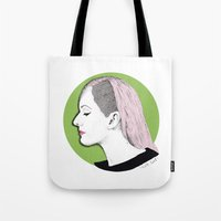 ellie goulding Tote Bags featuring Ellie by Iiris Ella