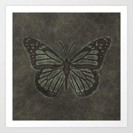 Bronze Monarch Butterfly Art Print