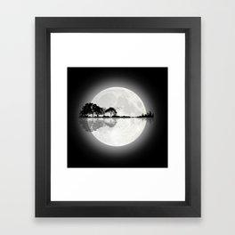 Moonlight Nature Guitar Framed Art Print