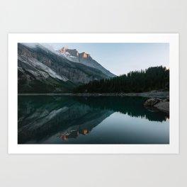 Sunset at the Mountain Lake – Landscape Photography Art Print