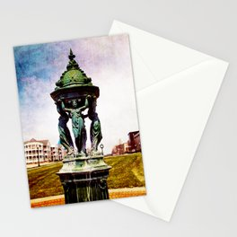 A Day In The Town By The Lake Stationery Cards