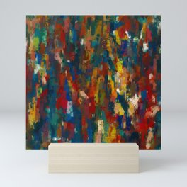 Colorful Crowd Abstract Mini Art Print