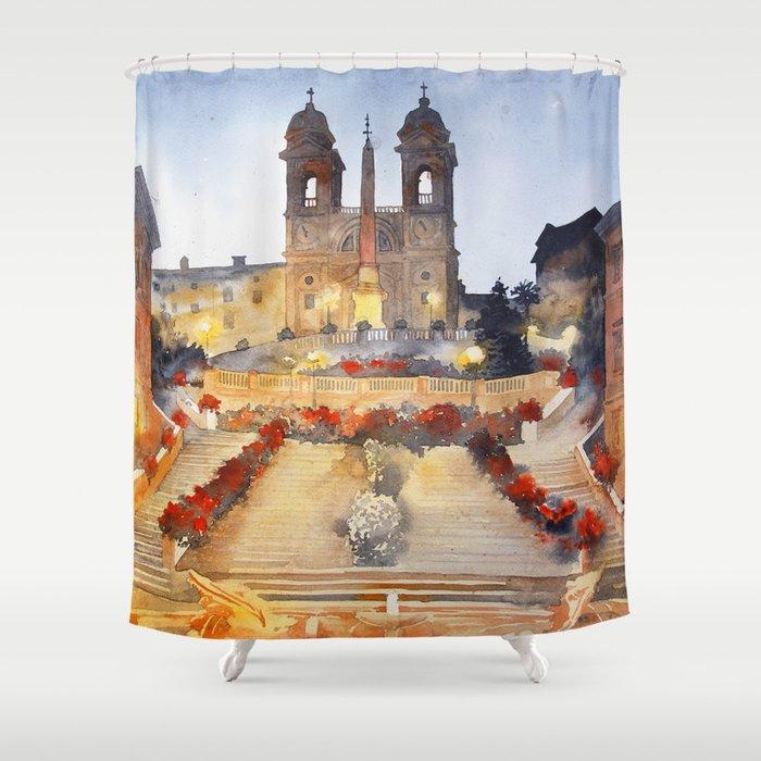 akwarelka 96 Shower Curtain by katarzynajaskiewicz   Society6