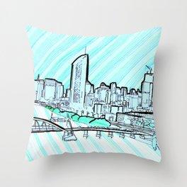 BRISBANE POSTCARD SERIES 011 Throw Pillow