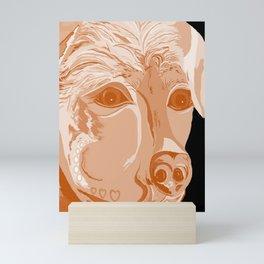 Rottweiler Sepia Tones Mini Art Print