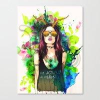 capricorn Canvas Prints featuring Capricorn by Sara Eshak