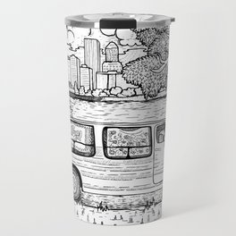 Live In A Van, Down By The River Travel Mug
