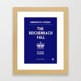 BBC Sherlock The Reichenbach Fall Minimalist Poster Framed Art Print