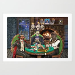 Our Favorite Monsters Playing Cards Art Print