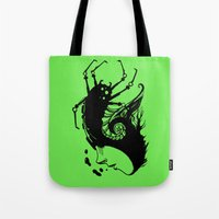 bug Tote Bags featuring Bug by leonardoariza