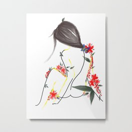 She is the Garden Metal Print
