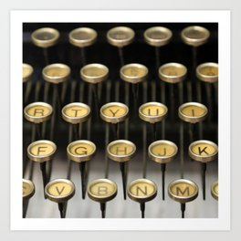 Typewriter square Kunstdrucke
