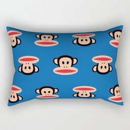 Julius Monkey Pattern by Paul Frank - Dark Blue Rectangular Pillow