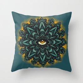 Mandala Eye - Color Variant 1 Throw Pillow