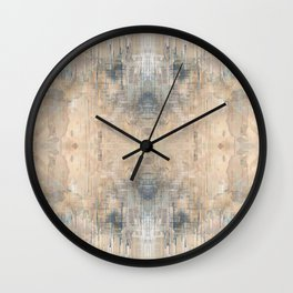 Glitch Vintage Rug Abstract Wall Clock