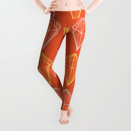 Pantone Flame Diamonds Spring 2017 Leggings