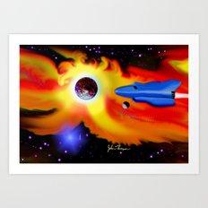 Spaceship Art Print
