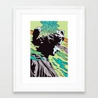 greek Framed Art Prints featuring Greek Profil by Maxime Roy