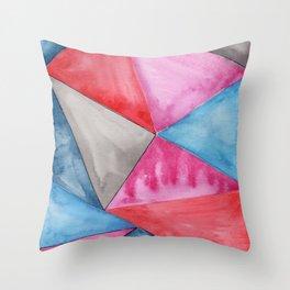 A Love Triangle Throw Pillow