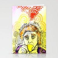 willy wonka Stationery Cards featuring Willy Wonka Drinks His Tea - Gene Wilder  by Sewzinski