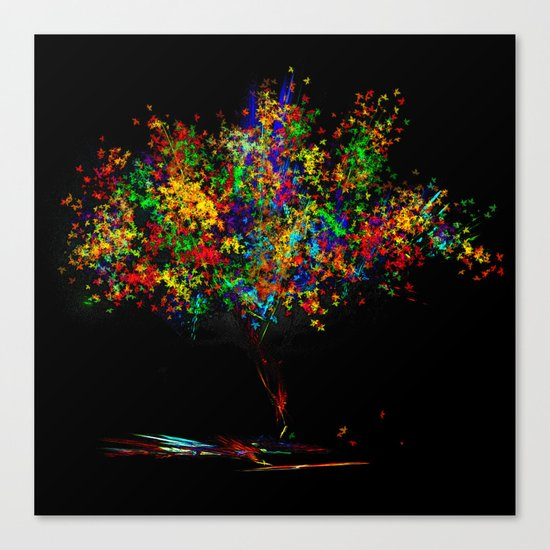 The Most Colorful Tree of the World Canvas Print