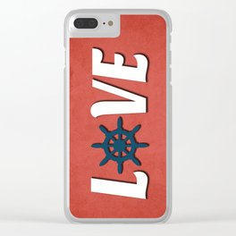 Love nautical design Clear iPhone Case