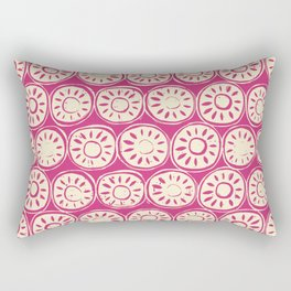 flower block ivory pink Rectangular Pillow
