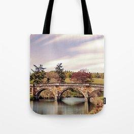Paine`s Bridge, Chatsworth, Derbyshire, UK. Tote Bag