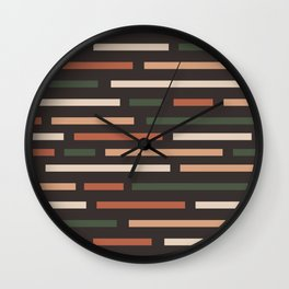 Colorful Maze Dark Wall Clock