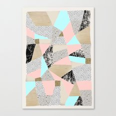 Geo Lights Canvas Print