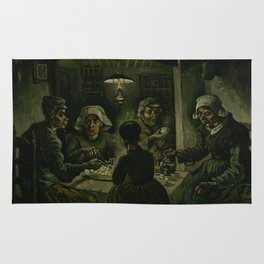 The Potato Eaters by Vincent van Gogh Rug