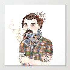 Flock of Beards Canvas Print