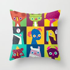 Thumbnail Monsters Throw Pillow