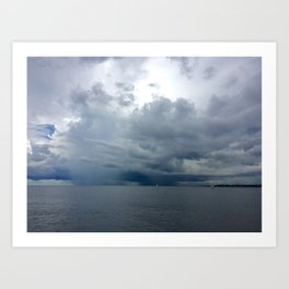 Rainy Lakefront Art Print
