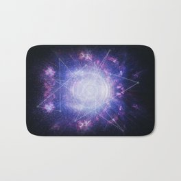 Abstract colossal space Sign! Bath Mat