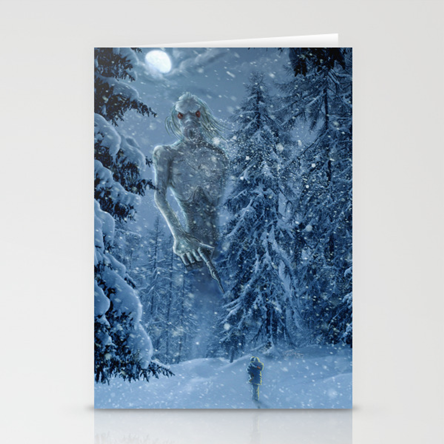 Ithaqua The Windwalker Stationery Cards By Stevesantiago Society6 An enormous humanoid with webbed feet and glowing red eyes, ithaqua frequently stalks the arctic wildernesses where he preys on the unwary. ithaqua the windwalker stationery cards by stevesantiago