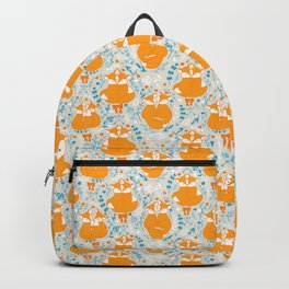 Foxes in love - Grey Backpack