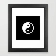 Yin Yang Black White Framed Art Print