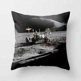 Apollo 15 - Moonwalk 1971 Throw Pillow