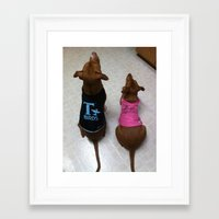 grease Framed Art Prints featuring Grease Dogs by Bruce Wayne