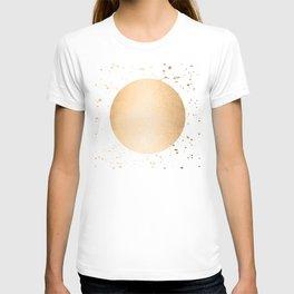 Sun Paint Spatter in Orange Sherbet Shimmer T-shirt